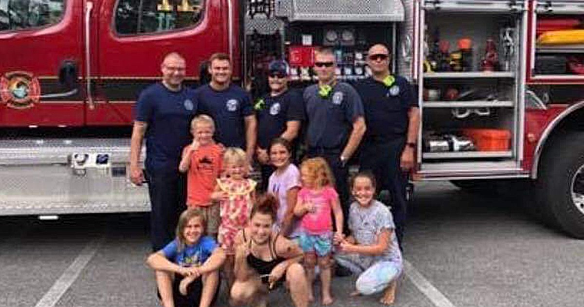 Firefighters surprise boy after no one comes to his birthday