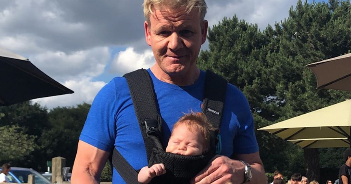 Gordon Ramsey dad-shamed for photo of him wearing son in baby carrier