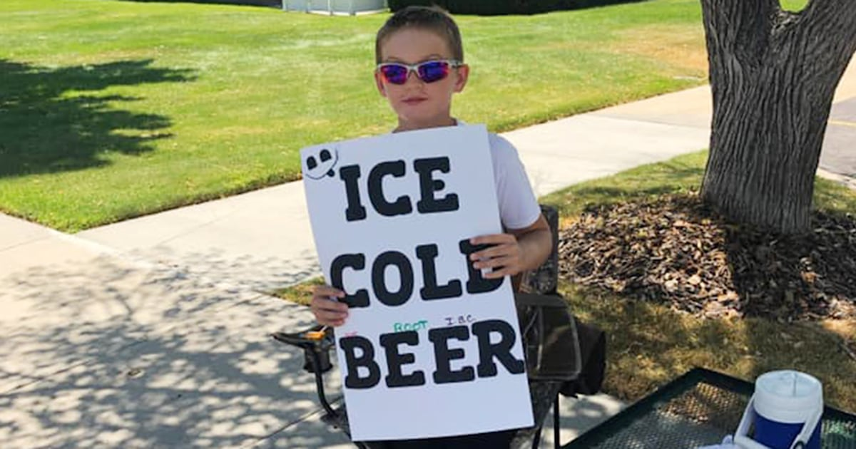 Police are called on an 11-year-old selling 'ice cold beer'