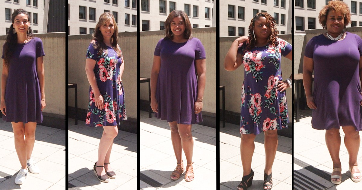 We Tried Amazon S Bestselling T Shirt Dress On 5 Different Body Types