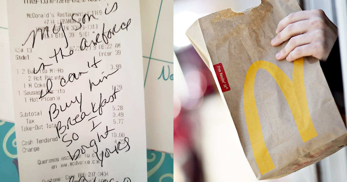 Mom and her son overwhelmed by a stranger's kind deed at McDonald's