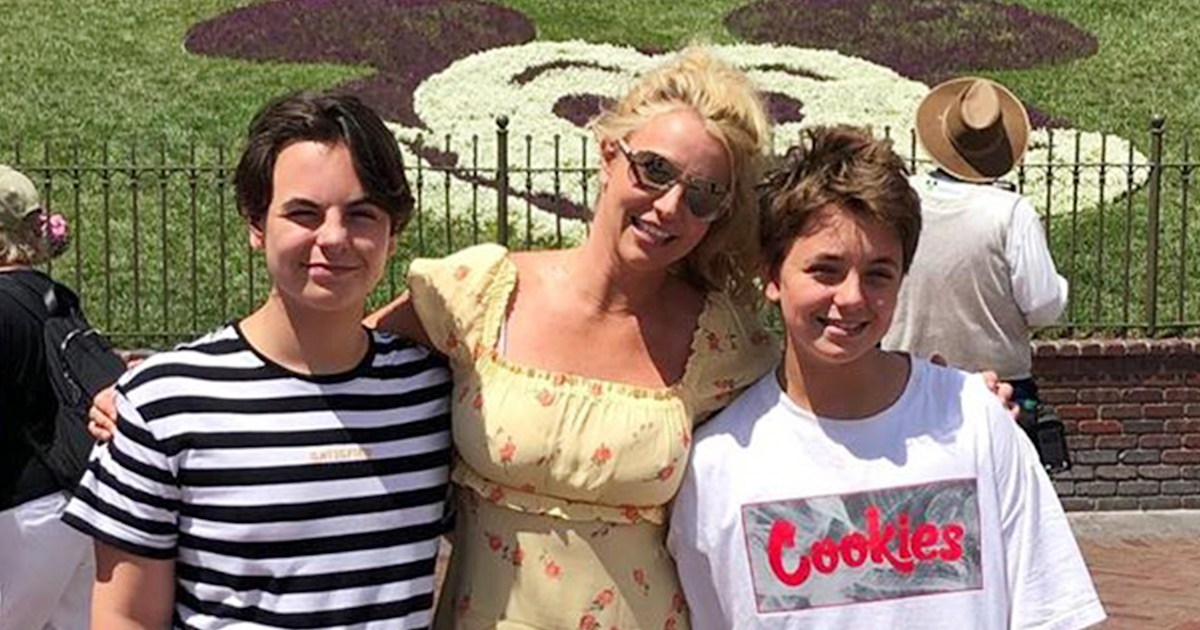 Britney Spears shares photos of her sons from Disneyland