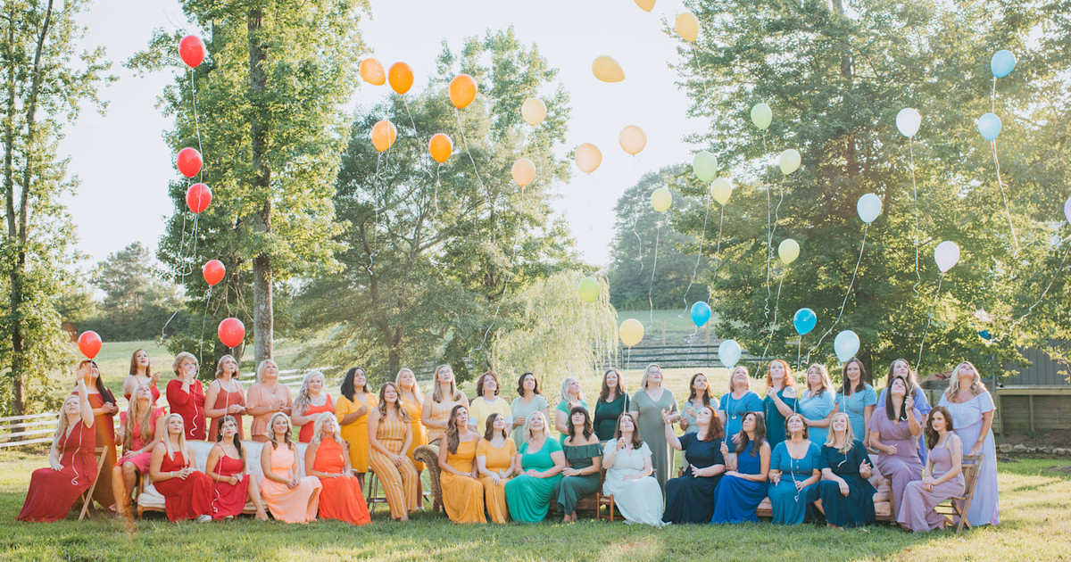 40 moms celebrate their rainbow babies in joyful photo shoot