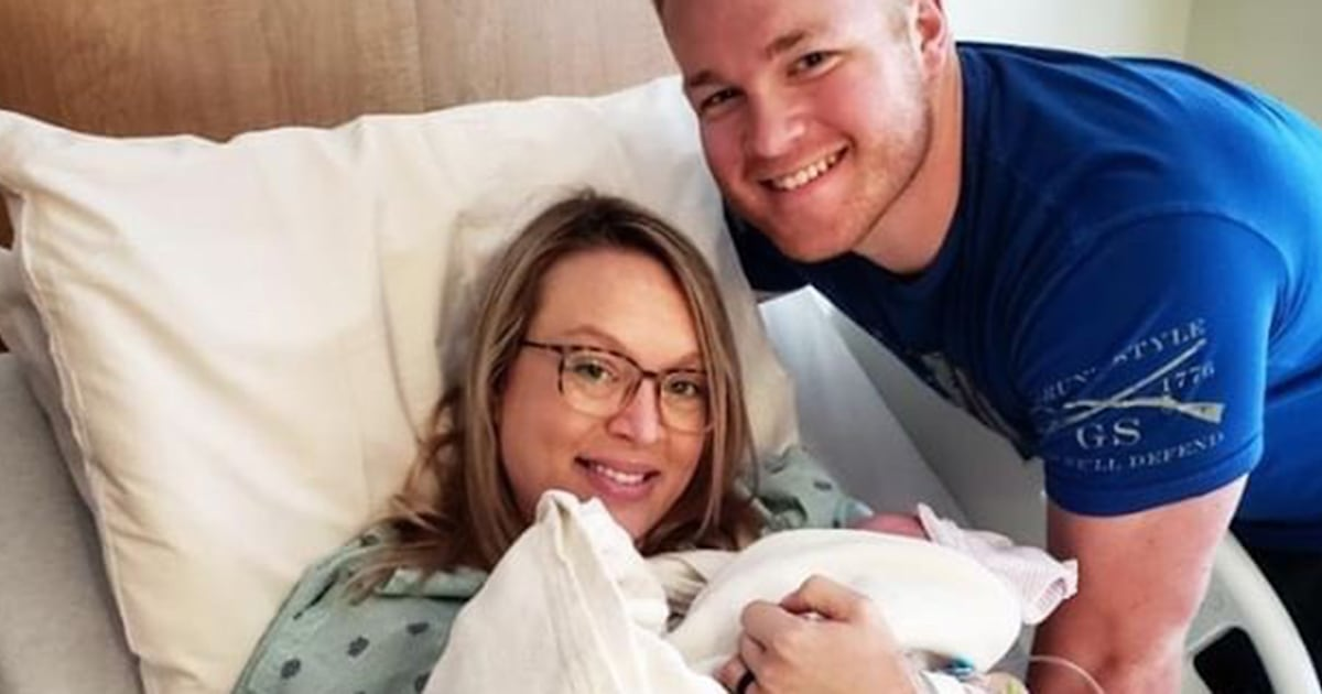 Stranger helps sergeant rush home to see birth of first son