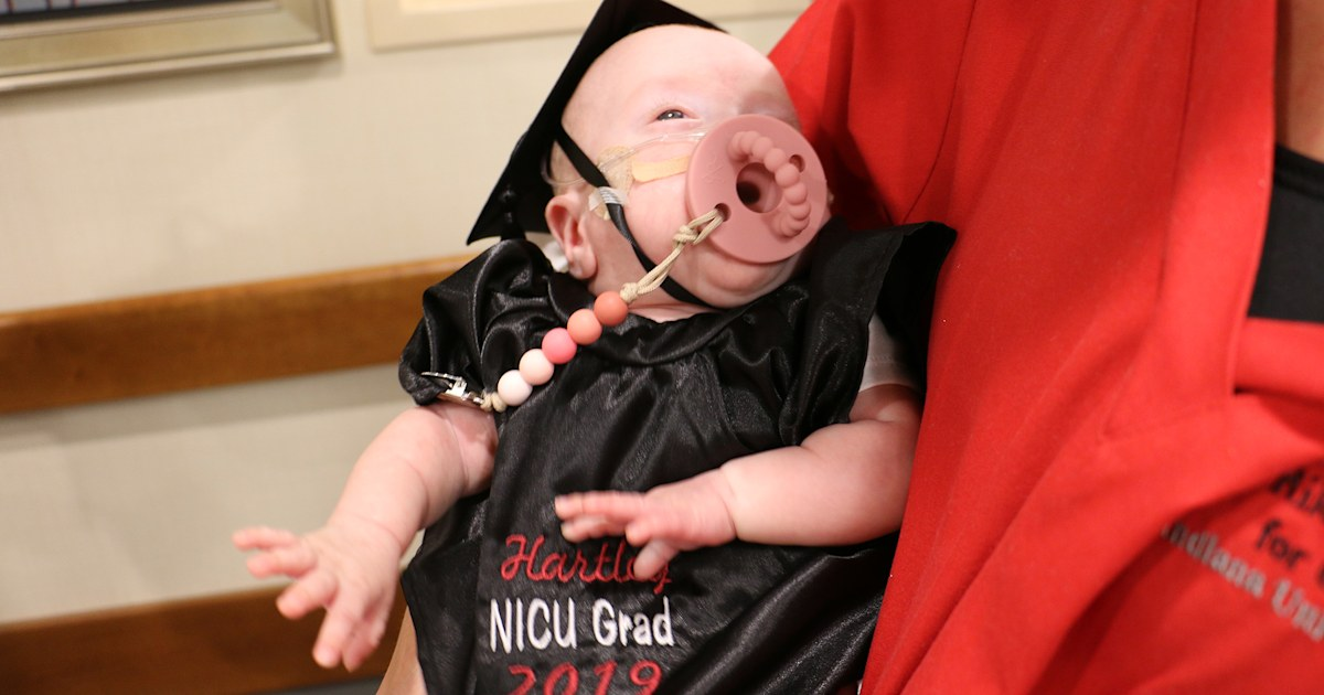 Hospital has graduation ceremony for baby who spent 135 days in NICU