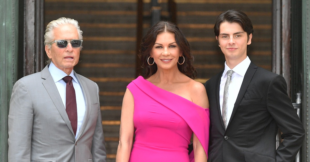 Catherine Zeta-Jones finds out her son Dylan went skydiving through Instagram