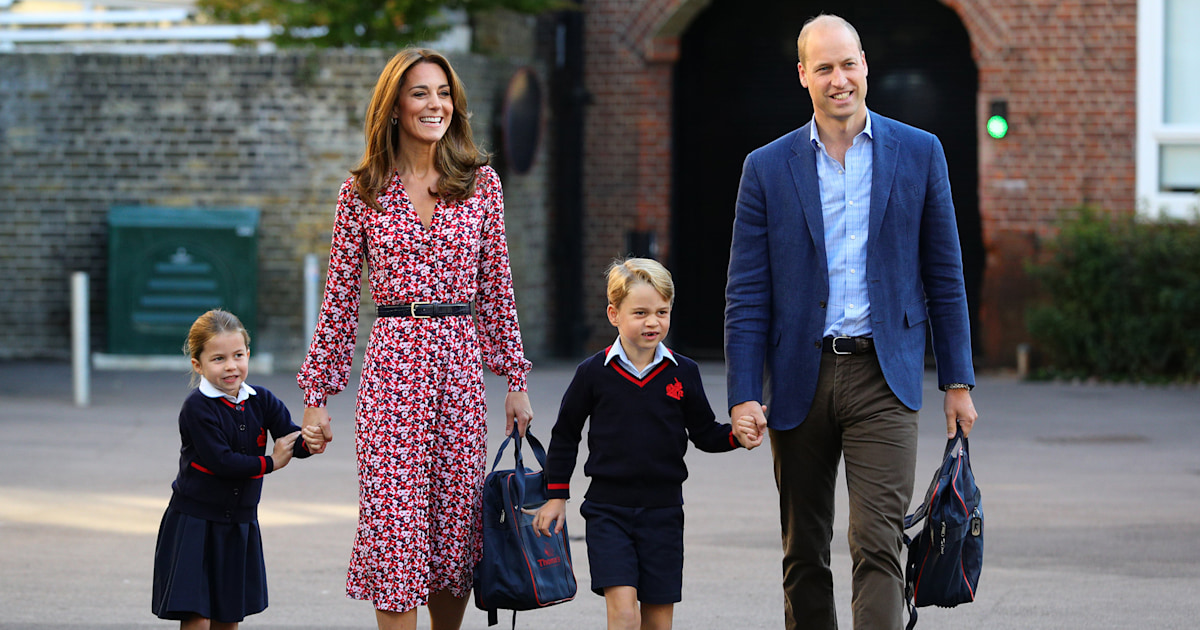 It's Princess Charlotte's first day of school — see the cute photos!