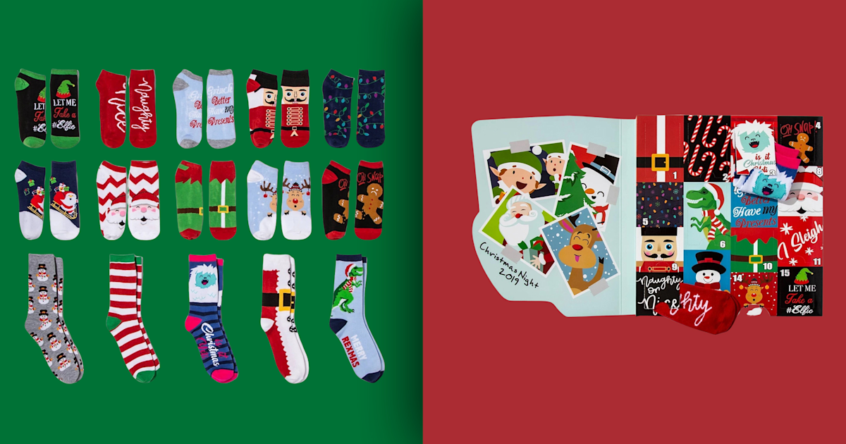 sock advent calendars are popular for the 2019 holiday season. Black Bedroom Furniture Sets. Home Design Ideas