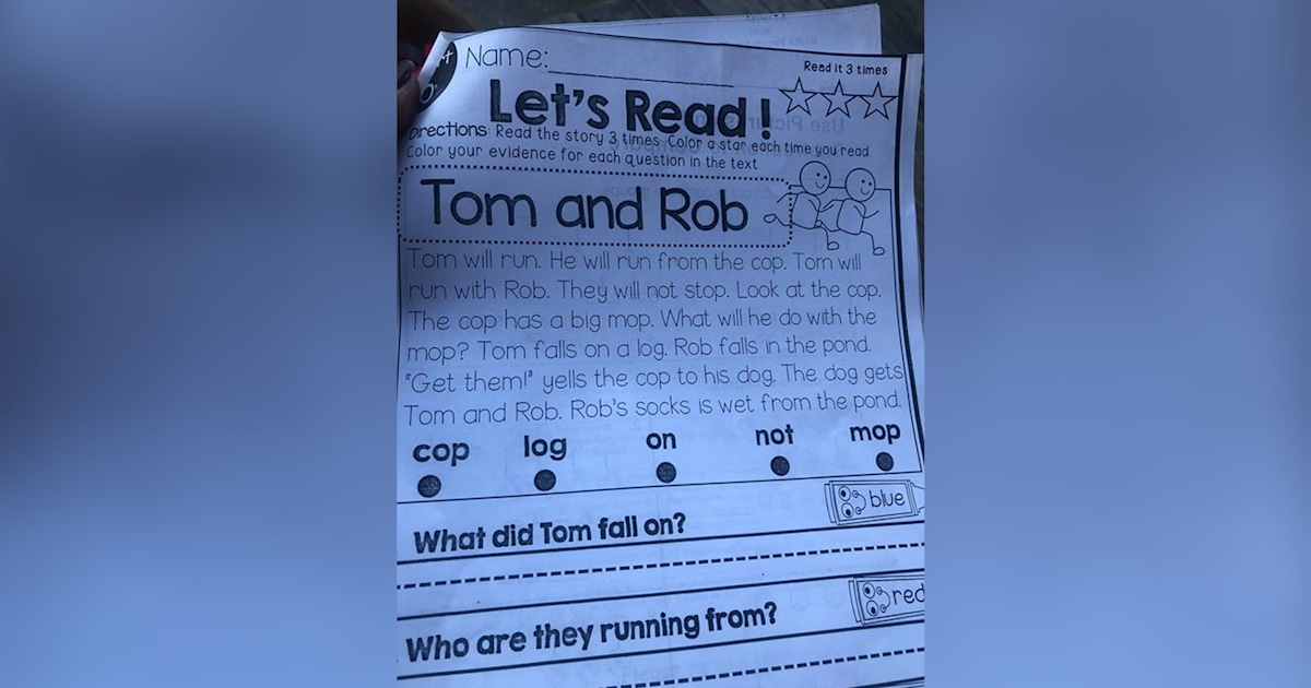 'Appalling and offensive': This 1st grade assignment outraged parents