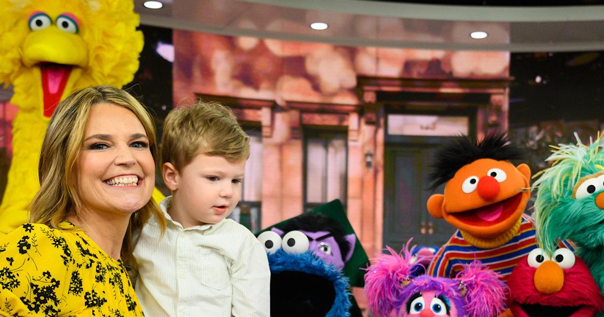 Savannah Guthrie's son, Charley, meets 'Sesame Street' faves