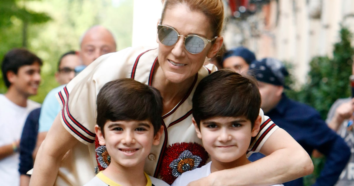 Celine Dion shares rare photos of 9-year-old twin sons on their birthday