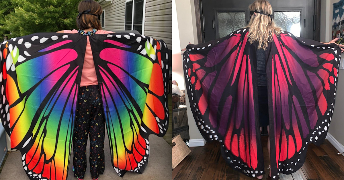 These butterfly wings are the perfect Halloween accessory