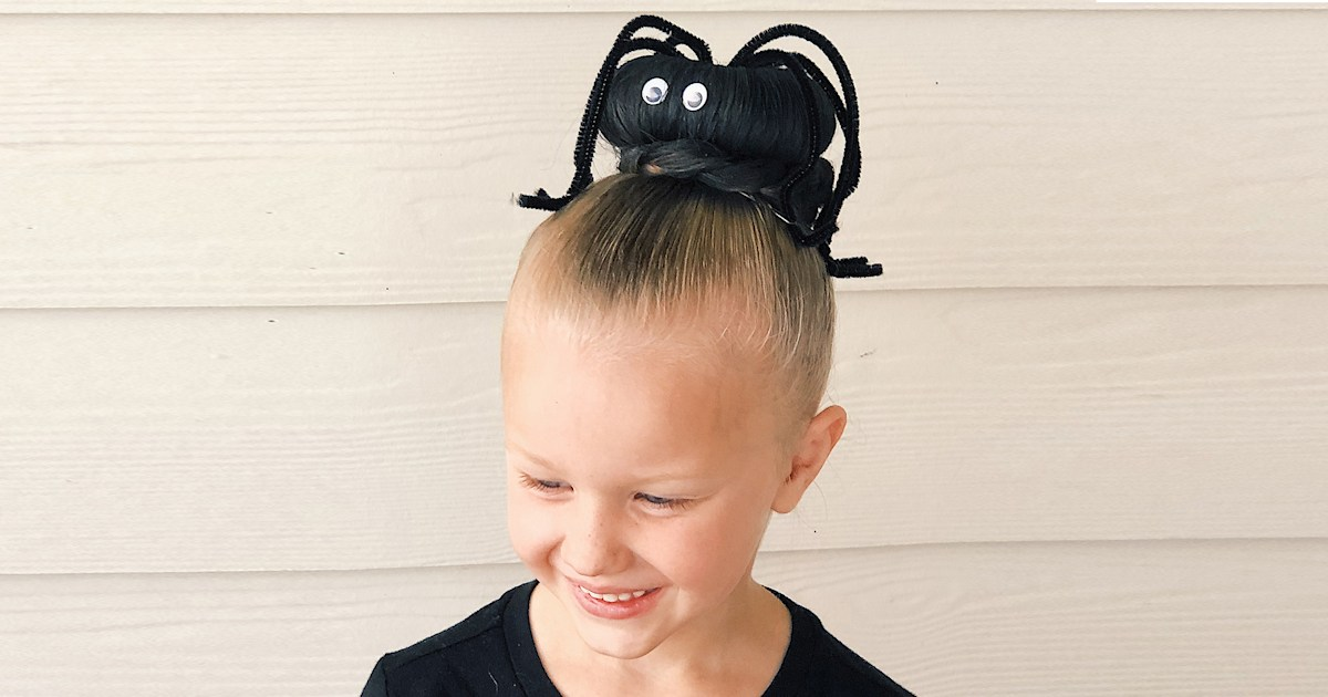 This last-minute Halloween hair idea is perfect for kids (and busy parents)