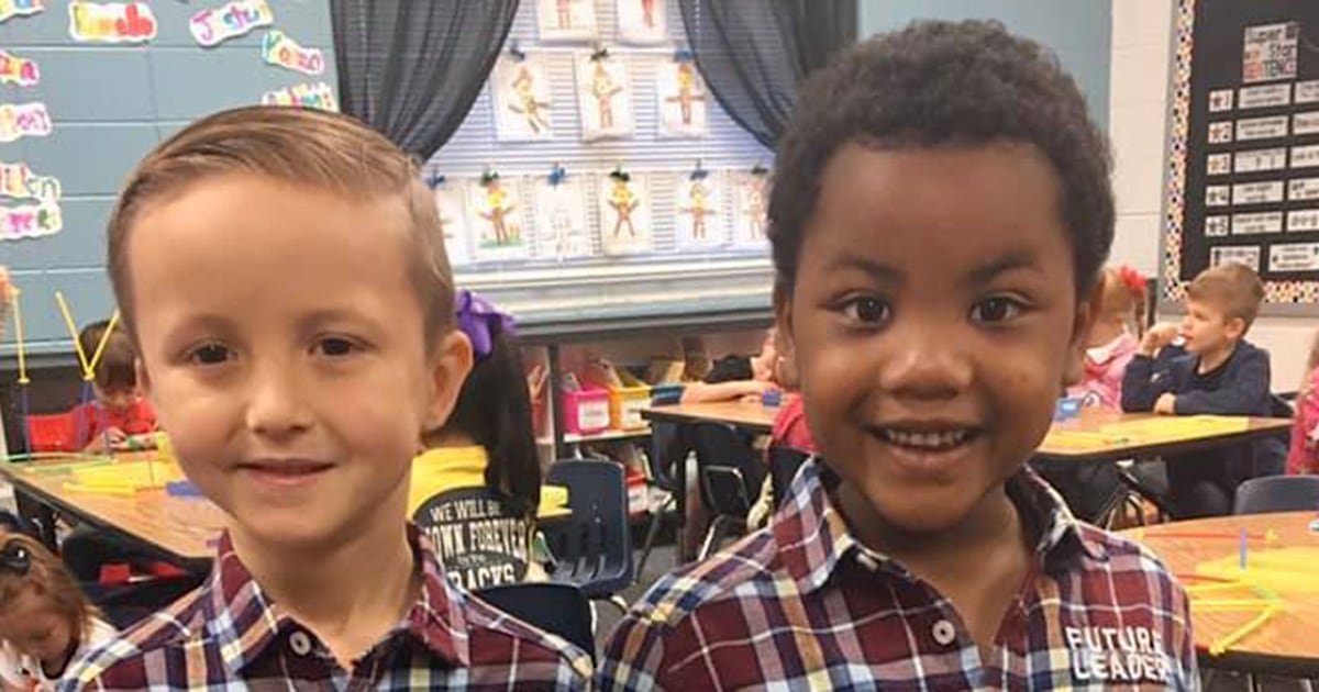 'The sweetest thing': 2 kindergartners insist they look like twins