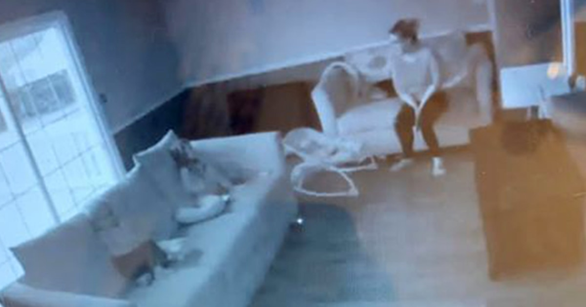 Mom sees ghost on video baby monitor watching her kids