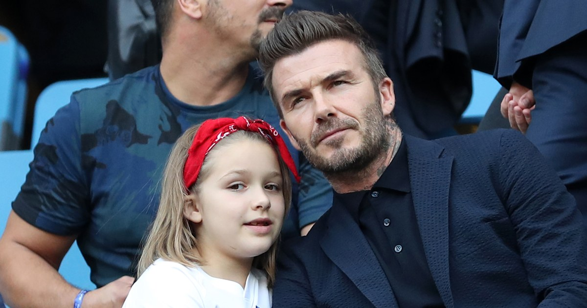 David Beckham gets in the Christmas spirit with daughter Harper