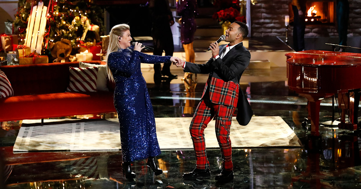 John Legend and Kelly Clarkson perform updated version of 'Baby, It's Cold Outside'