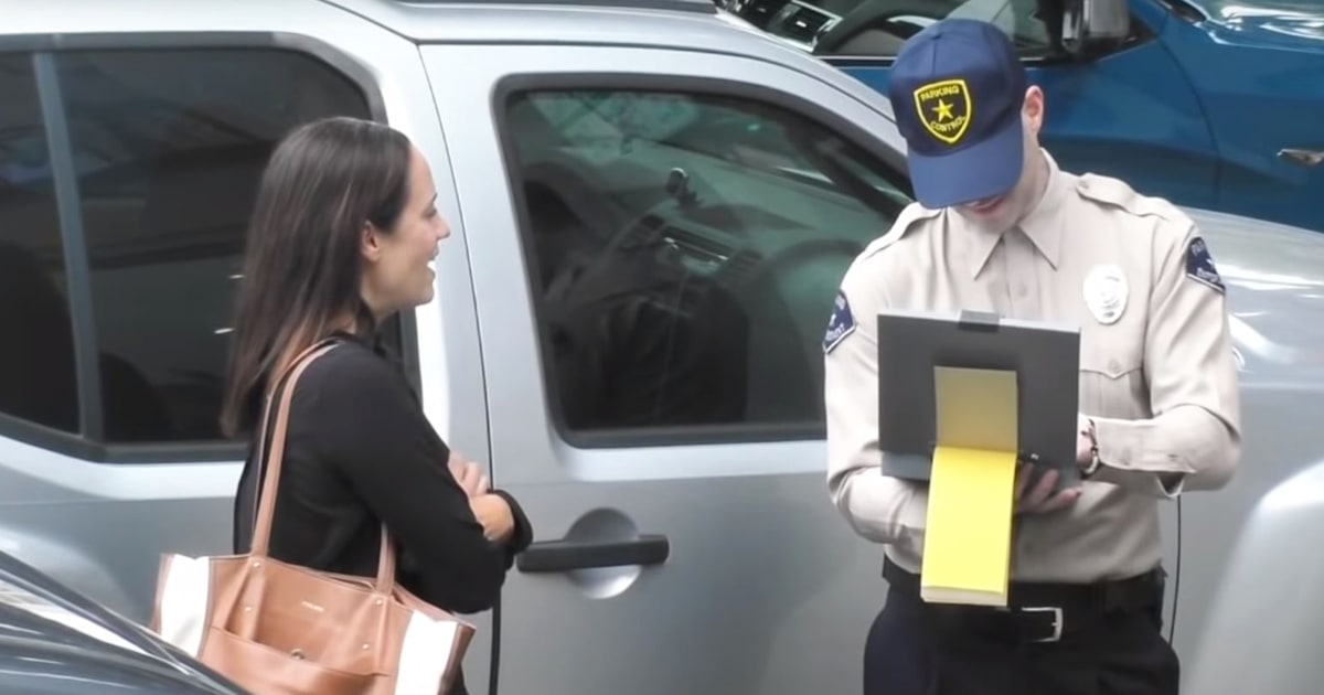 Watch Adam Levine go undercover and prank drivers with 'parking tickets'