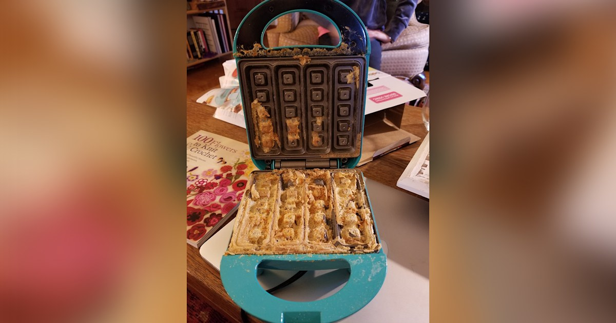 Amazon apologizes after man allegedly received waffle maker with crusty waffle