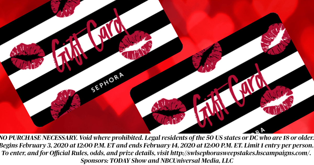 Win a $500 Sephora gift card this Valentine's Day
