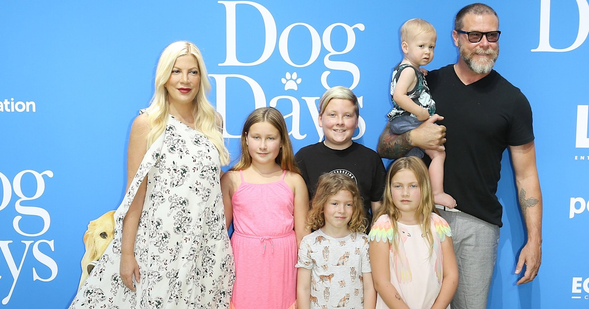 Tori Spelling's husband opens up about kids' health problems after being bullied