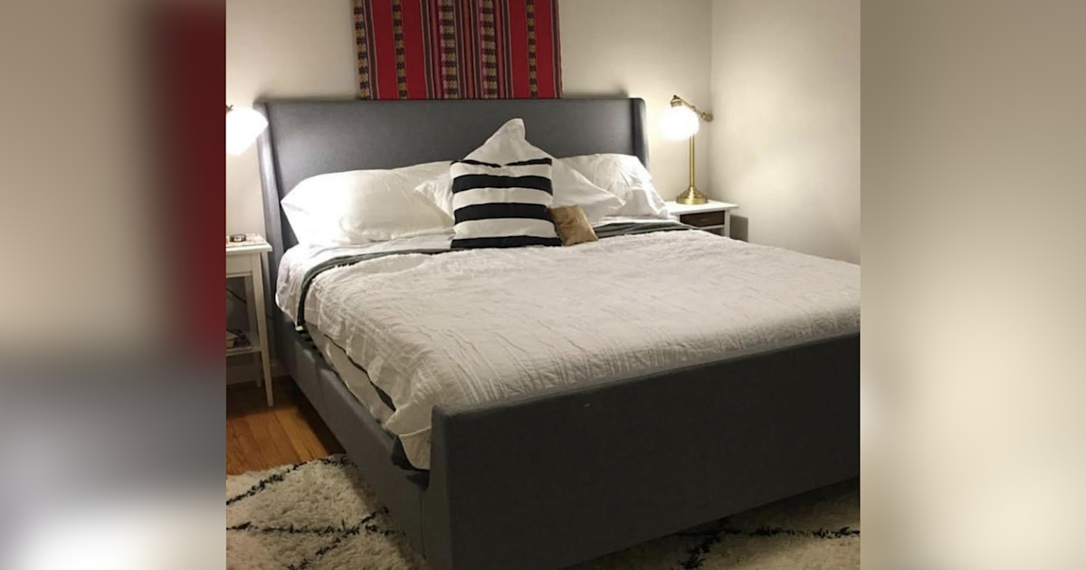 See this bedroom go from boring to bohemian after a $500 makeover