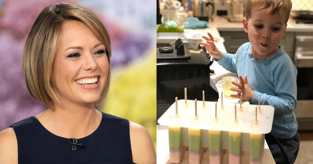 Dylan Dreyer made this healthy and colorful recipe to keep her son busy