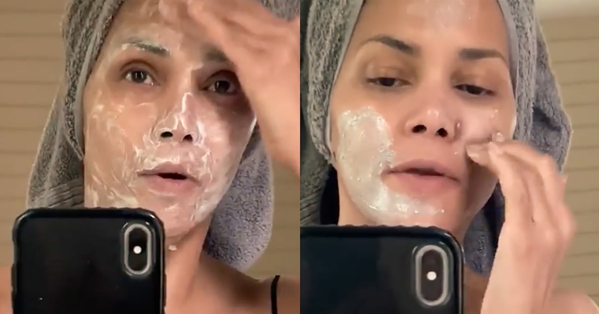Halle Berry revealed her surprisingly simple 4-step skin care routine