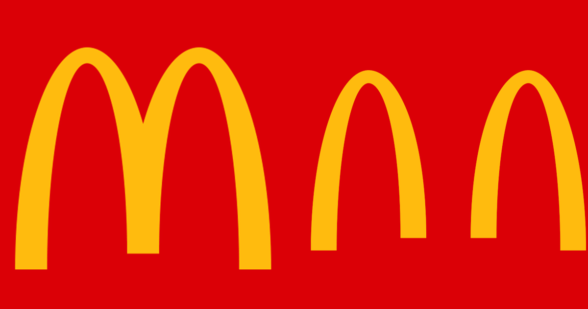 McDonald's gives its famous logo a makeover to promote social distancing