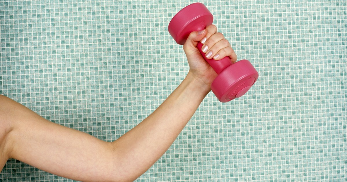 An arm and shoulder workout you can do at home