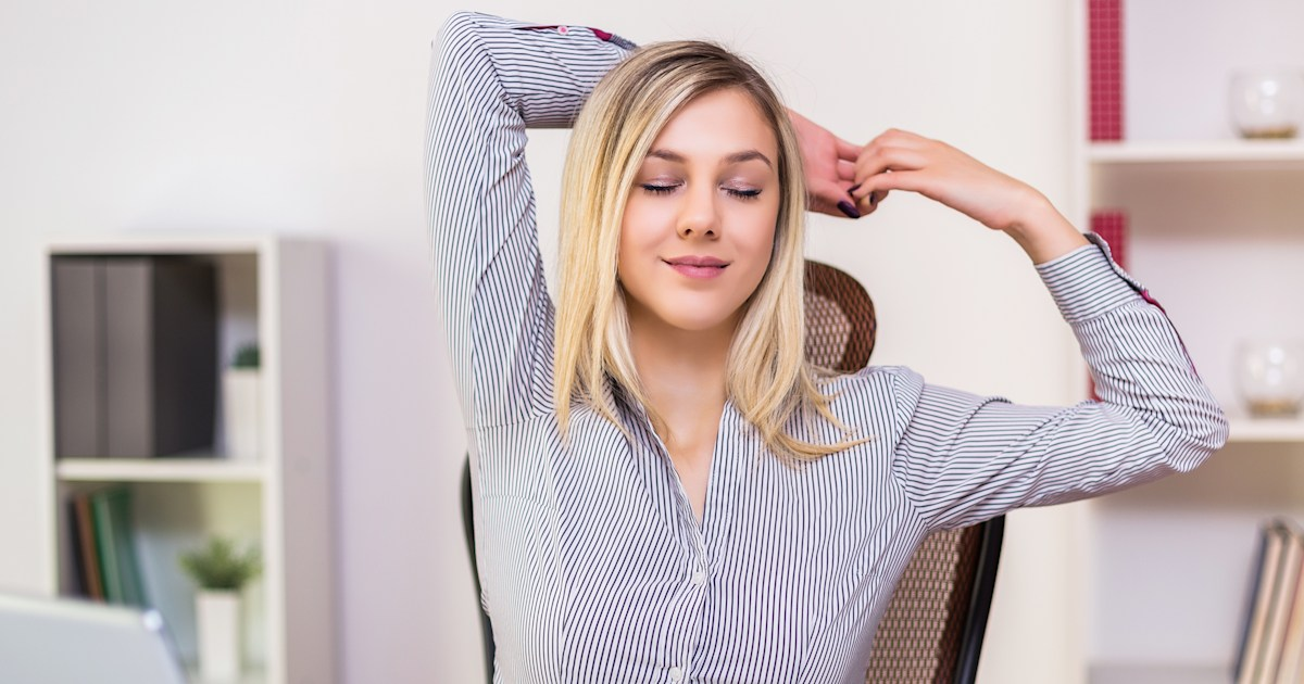 Slouching your makeshift office chair? These 5 stretches can help
