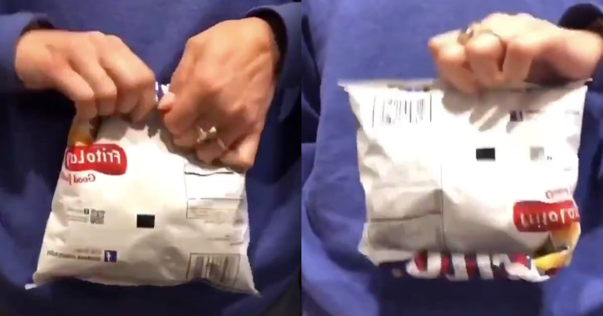 This video of a potato chip bag-sealing trick has over 10 million views