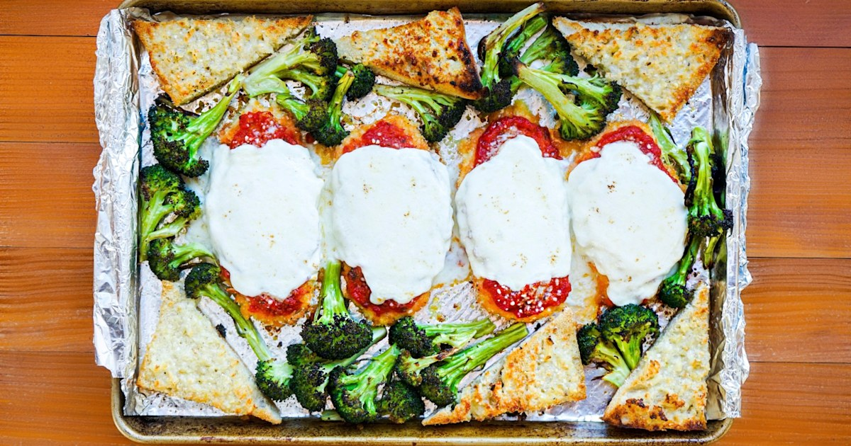 Skip the frying and make chicken Parm on a sheet pan