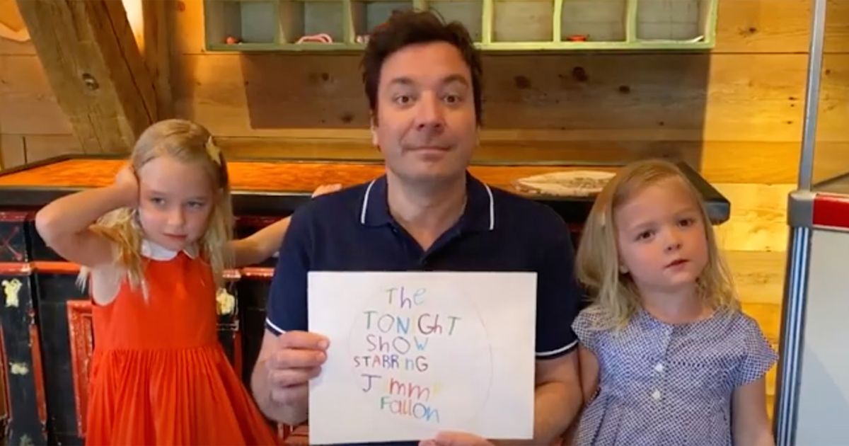 Jimmy Fallon's daughters take over as adorable announcers of 'The Tonight Show'