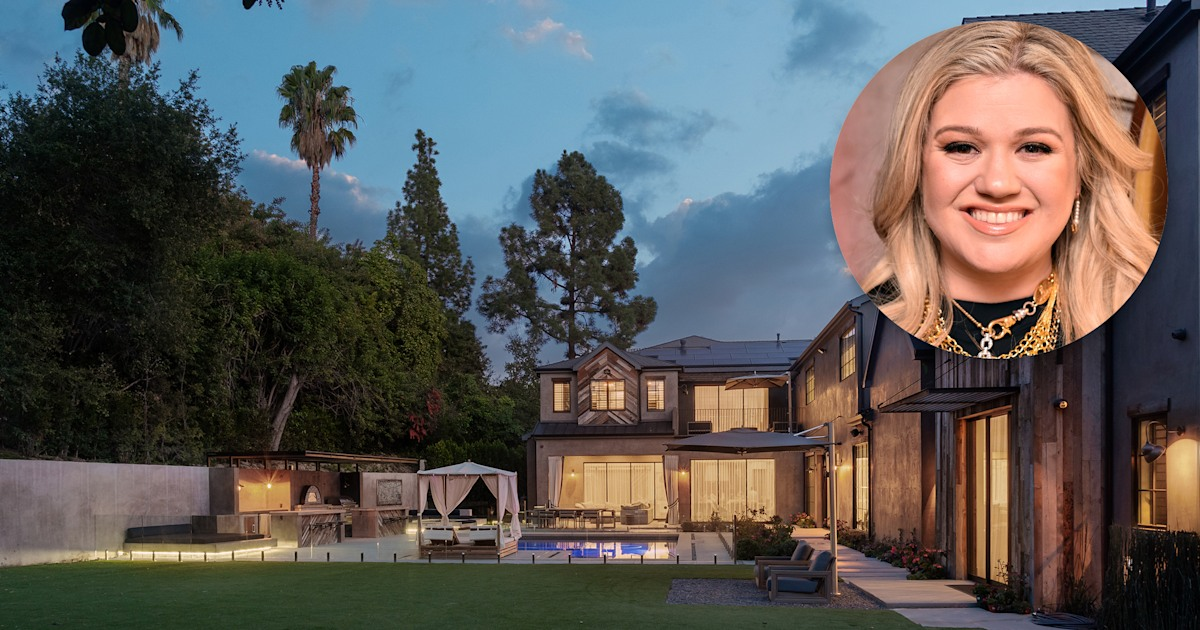 Take a look inside Kelly Clarkson's glamorous L.A. home