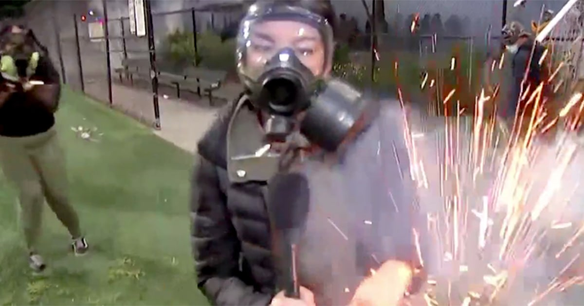 NBC News' Jo Ling Kent hit by flash-bang grenade at Seattle protest live on air