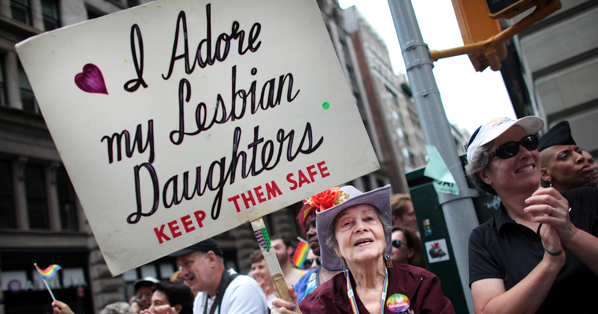 Frances Goldin and her famous sign was a fixture at LGBTQ Pride