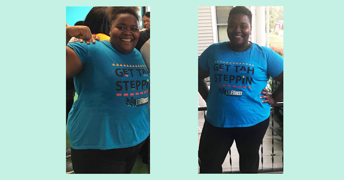 This mom lost 75 pounds by taking a hip-hop step aerobics classes