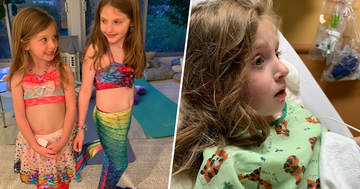 Dad warns about mermaid tail swimsuits after daughter nearly drowns