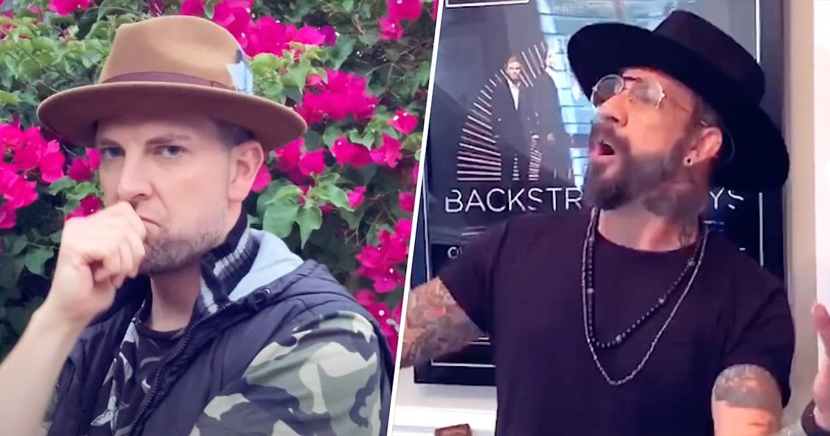 Watch AJ McLean sing in Backstreet Boys quarantine-themed parody