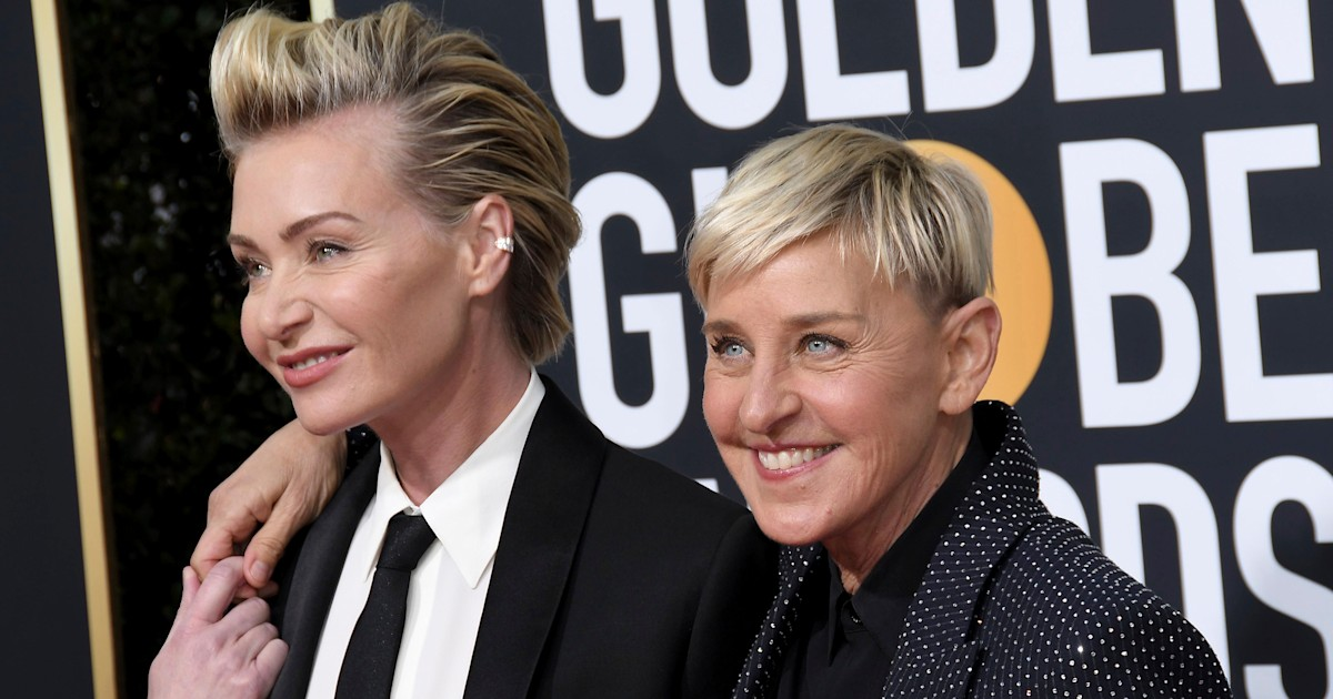 Ellen pays tribute after her and Portia's dog Wolf dies: 'He brought us so much love'