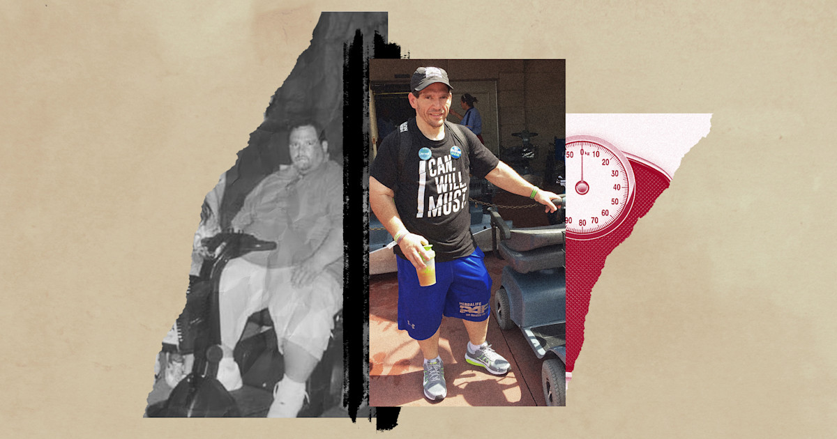 Eating his favorite salad every day helped this dad lose 266 pounds