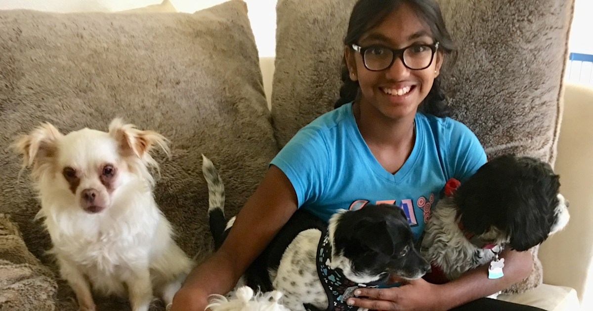 Teen abandoned as a baby raises $14K to give senior dogs 2nd chance