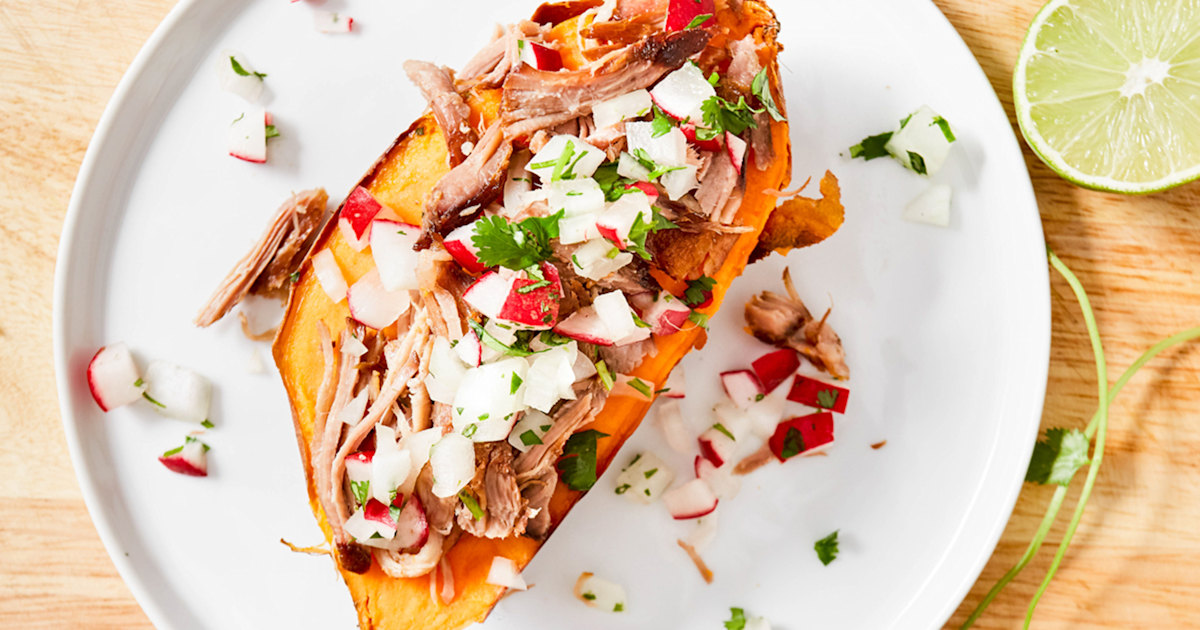 Make tender 4-ingredient pulled pork for a week of fast and healthy dinners