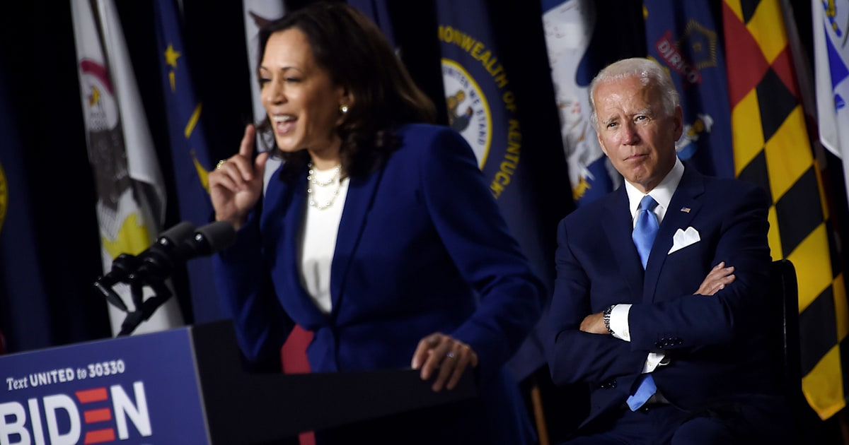 Biden holds first campaign event with new VP pick Kamala Harris