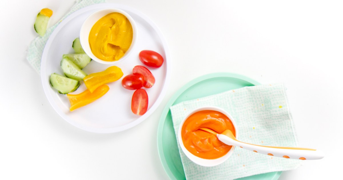Make hummus even healthier by adding a variety of veggies right into the dip