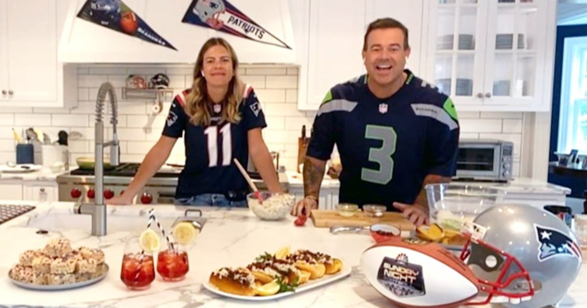 Siri and Carson get ready for game day with Patriots and Seahawks-inspired recipes