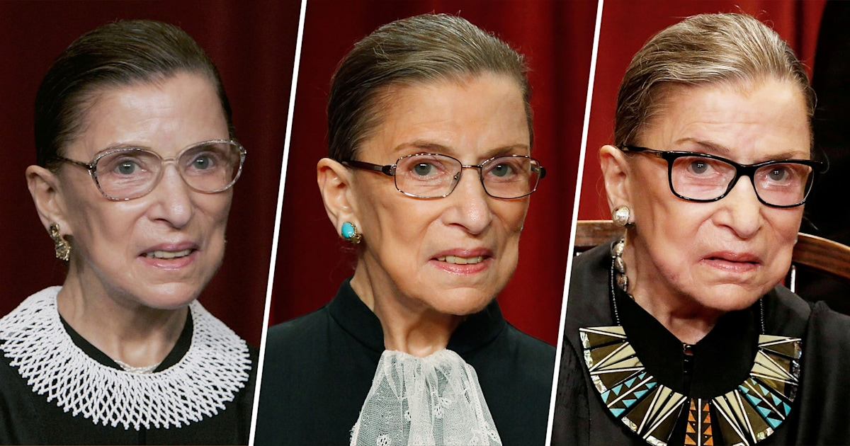 Revisiting Ruth Bader Ginsburg's iconic style and meaningful neck collars