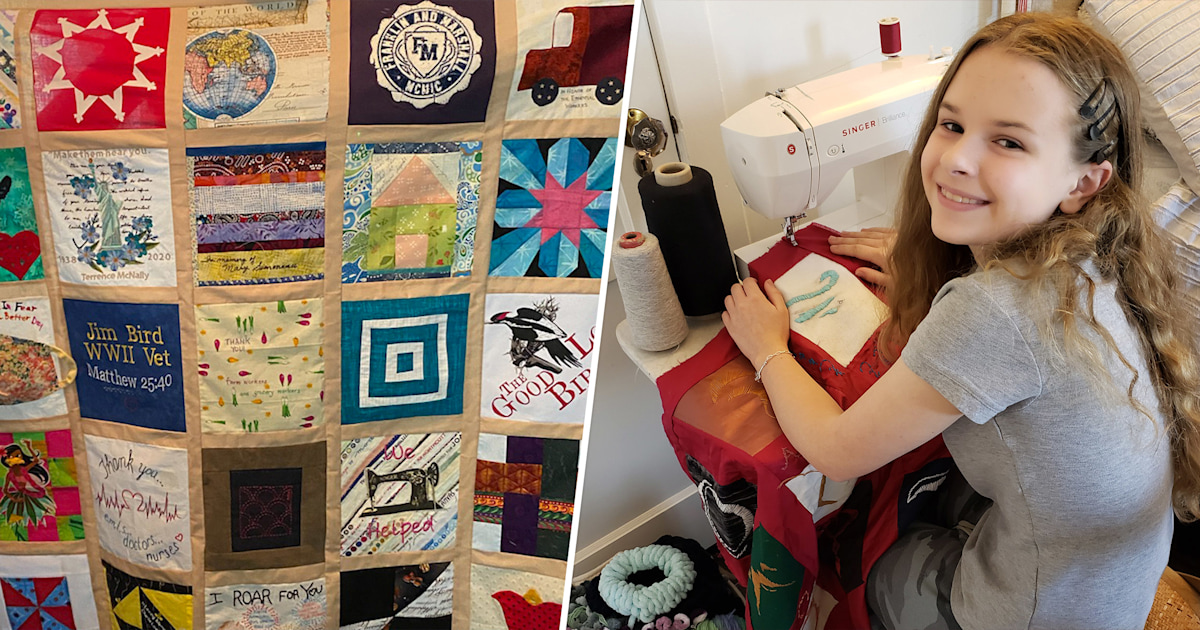 Teen creates COVID-19 quilt to honor those who have died