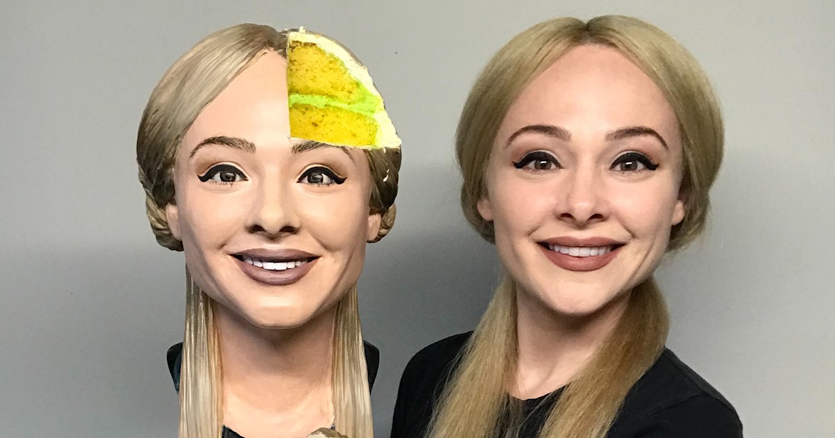 Baker creates super realistic 'selfie-cake' and then cuts it open